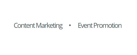 Content marketing, event planning